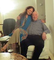 Jane Hirschfield and Seamus Heaney in 2013. Photo from Poets.Org