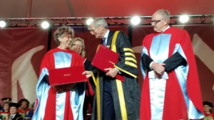 Patrick Lane and Lorna Crozier Receiving their Honourary Degrees from McGill