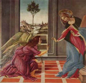 Bottecelli's Annunciation