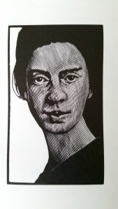 Portrait of Emily Dickinson. Copyright: Barry Moser, from Emily:Opposites Attract, Horse Whisperer Press, 2004